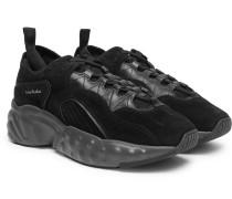 Rockaway Suede, Leather And Mesh Sneakers