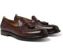 Ivy Burnished-Leather Tasselled Loafers