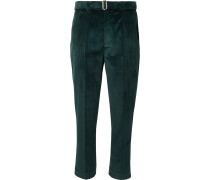 Dark-Green Owen Tapered Cotton-Corduroy Suit Trousers