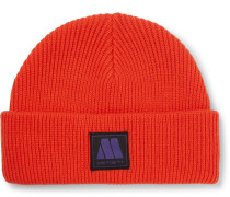 + Motown Records Marvin Logo-Appliquéd Ribbed-Knit Beanie