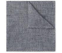 Halton Cotton, Linen and Silk-Blend Jacquard Pocket Square