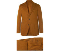 + Drake's Brown Cavalry Cotton-Twill Suit