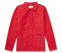 Cotton-moleskin Chore Jacket - Red