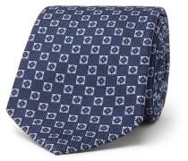 8cm Silk-jacquard Tie - Navy