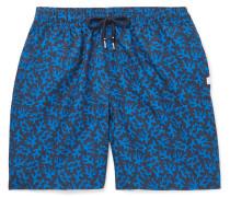 Maui Wide-Leg Mid-Length Printed Swim Shorts