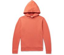 Hemp And Organic Loopback Cotton-blend Hoodie - Orange