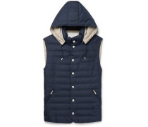 Slim-fit Quilted Wool Hooded Gilet