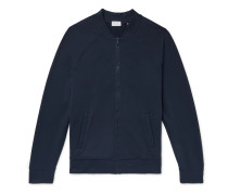 Loopback Stretch-Pima Cotton Flex Bomber Jacket