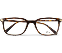 Square-frame Tortoiseshell Acetate Optical Glasses - Brown