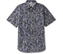 Printed Linen and Cotton-Blend Shirt