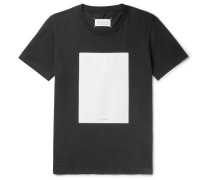 Shell-panelled Cotton-jersey T-shirt