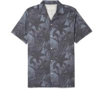 Dario Camp-collar Printed Lyocell And Cotton-blend Shirt