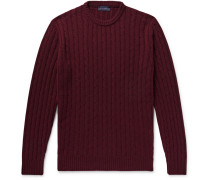 Cable-knit Cashmere Sweater - Burgundy