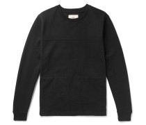 Sigma Panelled Twill And Loopback Cotton-jersey Sweatshirt