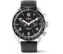 The Rambler Tachymeter Chronograph 44mm Stainless Steel And Rubber Watch - Black
