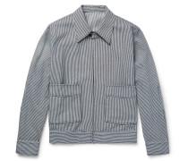 Striped Cotton Blouson Jacket