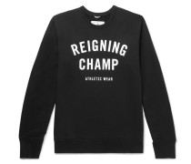 Slim-fit Logo-print Loopback Cotton-jersey Sweatshirt