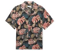 Canty Camp-collar Printed Tencel Shirt