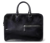 Un Jour Leather Briefcase - Black