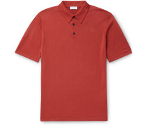 Slim-Fit Sea Island Cotton Polo Shirt