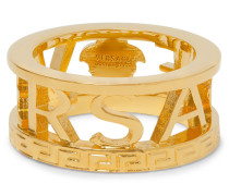 Logo Gold-tone Ring - Gold