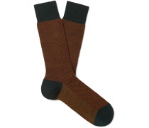 Blenheim Birdseye Merino Wool-Blend Socks