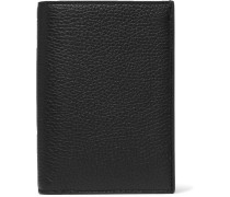 Convertible Full-grain And Smooth Leather Billfold Wallet - Black