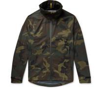 Waterproof Camouflage-print Shell Jacket
