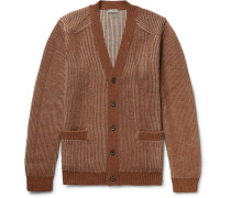 Ribbed Merino Wool And Alpaca-blend Cardigan