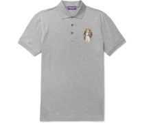 Bear-appliquéd Cotton-piqué Polo Shirt