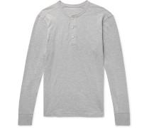 Garment-Dyed Slub Cotton-Jersey Henley T-Shirt