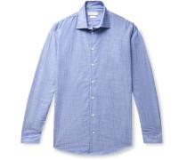 Slim-Fit Cotton-Chambray Shirt
