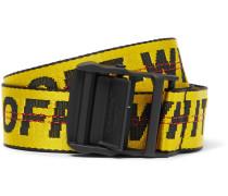 3.5cm Yellow Industrial Canvas Belt - Yellow