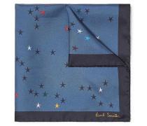 Printed Silk-twill Pocket Square - Blue
