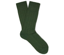 Lhasa Ribbed-knit Socks