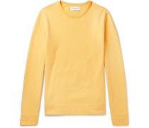 Fleece-back Cotton-jersey Sweatshirt - Yellow