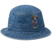 Embroidered Denim Bucket Hat