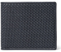 Pelle Tessuta Leather Billfold Wallet - Navy