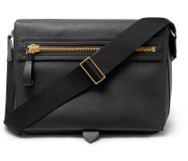 Full-grain Leather Messenger Bag - Black