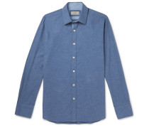 Cotton-chambray Shirt - Blue