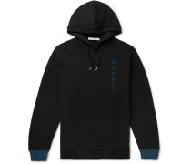 Logo-embroidered Loopback Cotton-jersey Hoodie - Black