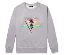 Printed Mélange Loopback Cotton-Jersey Sweatshirt