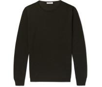 Slim-fit Wool Sweater - Green