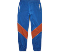Tapered Colour-block Shell Trousers