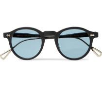 Miltzen-TT Round-Frame Matte-Acetate and Gold-Tone Sunglasses