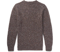 Donegal Wool And Cashmere-blend Sweater - Brown