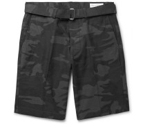 Julian Slim-fit Camouflage-print Stretch-cotton Shorts