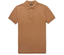 Garment-dyed Cotton-piqué Polo Shirt - Tan