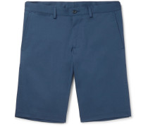 Slim-fit Stretch-cotton Gabardine Shorts