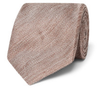 8cm Linen And Silk-blend Tie